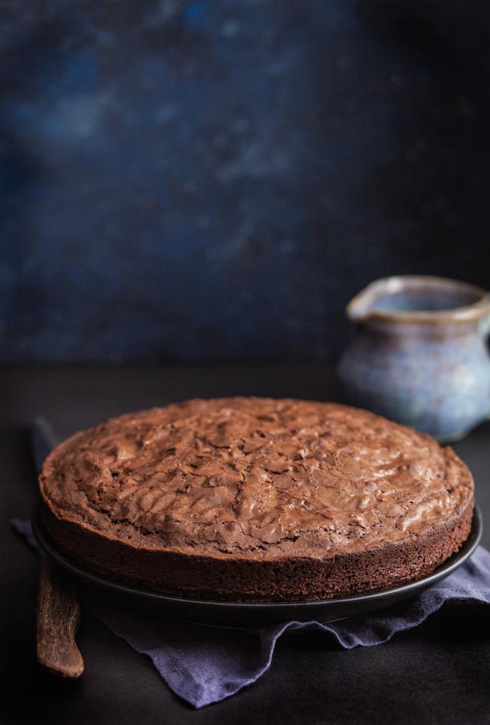GF Hazelnut Chocolate Crinkle Cake