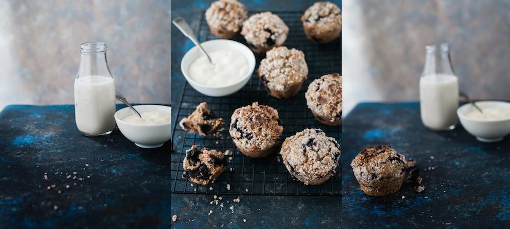 Gluten Free Blueberry Crumble Muffins